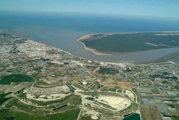 El Guadalquivir en su desembocadura