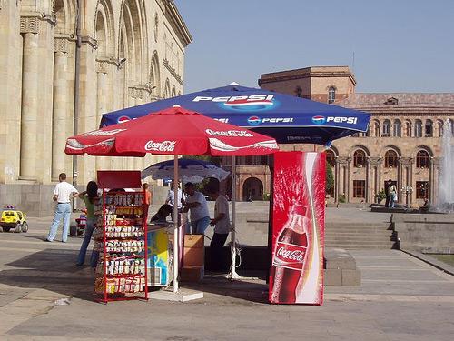 El marcaje entre Coca Cola y Pepsi a las puertas del National Museum