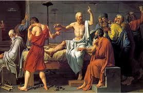 La muerte de Sócrates por cicuta (Cuadro de David)