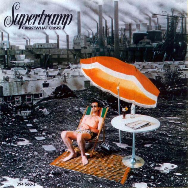Portada del famoso disco de Supertramp '¿Crisis? ¿Qué crisis?'